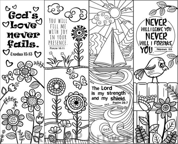 Christian Coloring Bookmarks For Adults Adult Coloring Christian ...