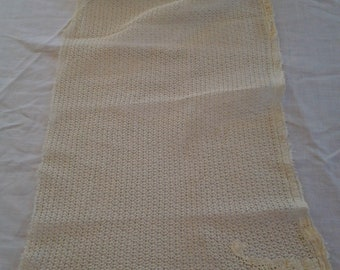 Antique Yellowed with Age Curtain Panel