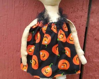 Prim Doll, Grungy Doll, Pumpkin primitive doll, Grungy, Fall, Halloween, Pumpkins, Handmade, One of a Kind