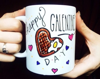 Galentine's Day Mug, Parks and Recreation Coffee Mug Valentine's Day gift, best fiend gift, girlfriend, galentine, cute gift idea