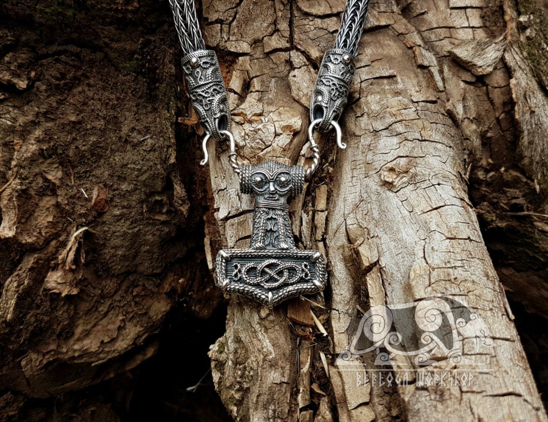 mjolnir replica huge thor 39 s hammer mjolnir pendant viking