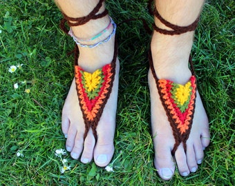 Barfuss Sandalen - Herbst - Erdung, Erdung Sandalen