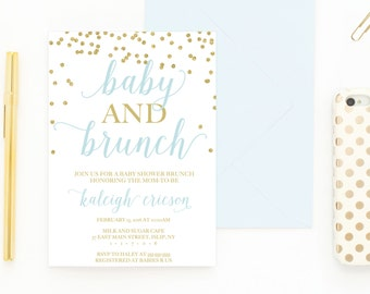 Baby Shower Invitation, Baby Shower Brunch, Baby Shower Brunch Invitation, Boy Baby Shower Invites, Baby Shower Invitations, Baby Boy [479]