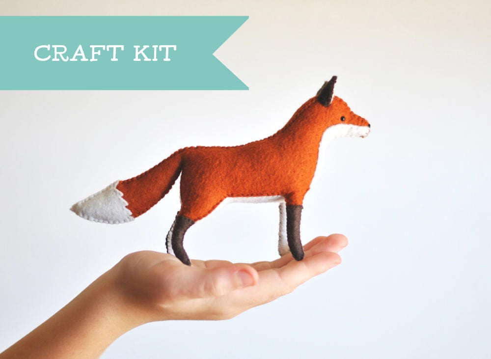 Ausgestopften Fuchs Filz Tier Kit gefüllte Tier Nähzeug.