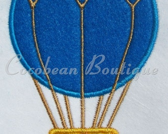 Hot air balloon embroidery applique