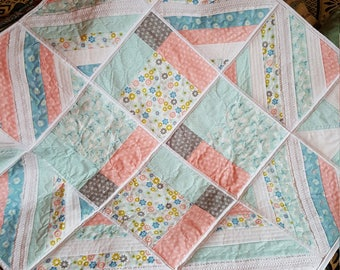 Handmade Baby Quilt / Throw / Play Mat