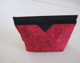 Black and Red Snap Closure Bag