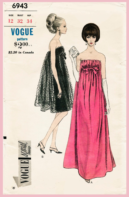 1960er Jahre Vintage Schnittmuster 60er Jahre Cocktailkleid