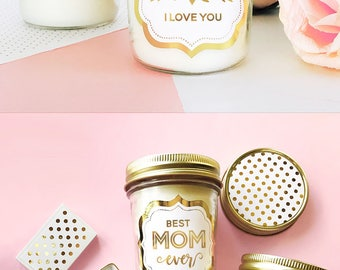 Mom Birthday Gift - First My Mother Forever My Friend Candle Message - Mom Card - I Love You Mom Candle  (EB3178MOM) Mother Day Gift Candle