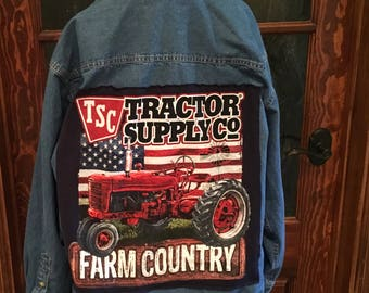Jean shirt with tractor supply t