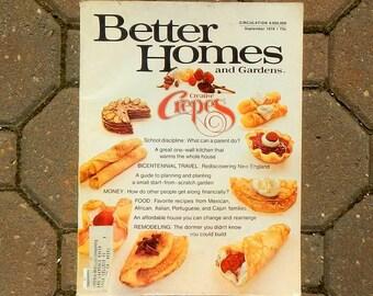 Vintage Better Homes and Gardens Magazine September 1976