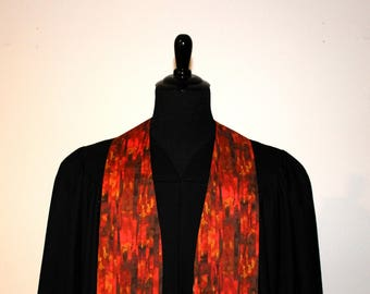 "Clergy Stole, Red Autumn #145, Pastor Stole, Minister Stole, 54"" Length, Pastor Gift, Vestments"