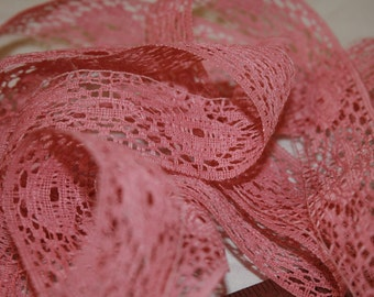 Vintage Rose Colored Lace