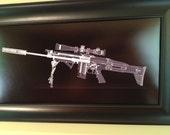 SCAR 16  CAT scan gun print - ...