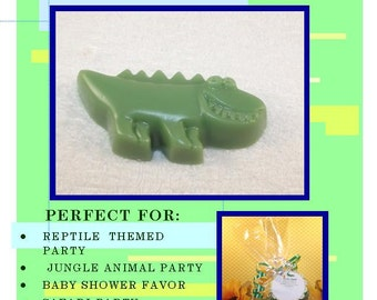 20 Alligator Glycerin Soap Sets, {Favors},Reptile Birthday Party Favors, Alligator Soaps, Alligator Favors, Reptile Party Favor, Reptiles