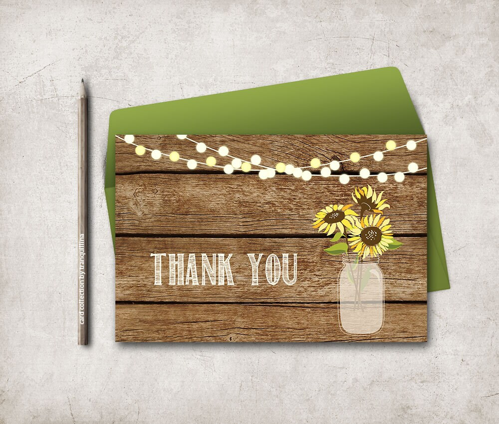 Rustic Thank You Cards Yr16 Advancedmassagebysara