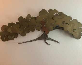Mid Century Tree of Life Brutalist Wall Sculpture