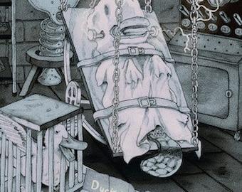 """Platypus Frankenstein Print, """"Tight Deadline"""""""