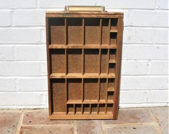 Vintage Letterpress Tray Vintage Wooden Letterpress Tray Letterpress Drawer 24 Sections