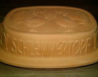Original Schlemmertopf Scheurich terracotta roaster clay