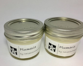Plumeria Scented Candles, Plumeria Soy Candles, Plumeria, Candles, Hawaiian Candle