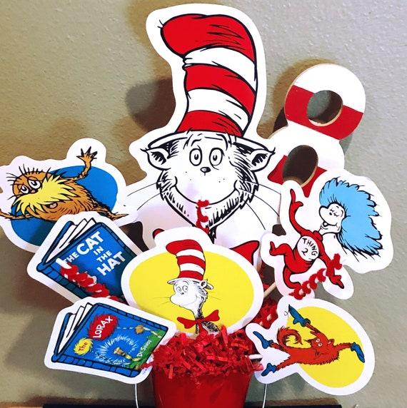 sc 1 st  Etsy & Dr. Seuss birthday centerpiece Dr. Seuss tableware