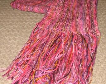 Summer Berries Scarf in Linen Stitch