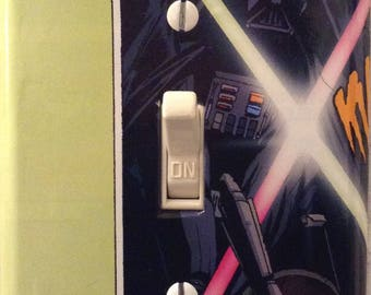 Darth Vader vs Boba Fett Star Wars  Light Switch Cover Bedroom Dorm Den Home Theater Bathroom FREE SHIPPING in the United States