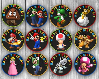 Mario Stickers/Cupcake Toppers (Digital)