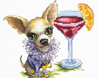 Cross Stitch Kit Chihuahua (dog)