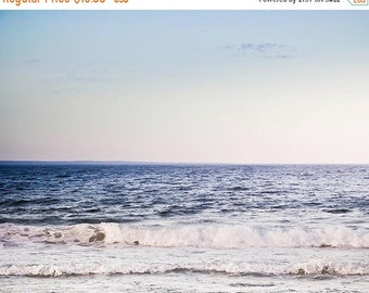 ON SALE ocean photography beach large photography nautical decor 8x10 11x14 20x30 fine art Photography waves pastel beach art lilac blue gra
