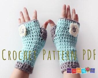 Fingerless Mittens For Kids , PDF Crochet Pattern, Gloves for Girl, Photo Tutorial, Instant Download, Easy Crochet Pattern, Beginner Crochet