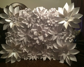 Paper Flower Wall Photo or Wedding Backdrop 6x6