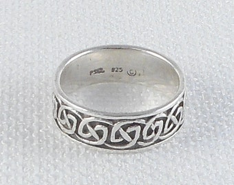 Vintage Sterling Silver PSCL Peter Stone Celtic Band Ring Sterling Silver Band Ring Peter Stone Ring PSCL Celtic Ring Signed Celtic Ring