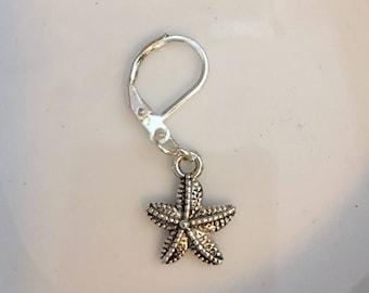 Starfish Charm Zipper Pull Knit Crochet Stitch Marker Bag Charm Planner Charm