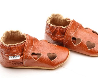Baby shoes Leather baby shoes, Slippers Girls' Baby Booties, Leather toddler moccasins, Boys', Crib shoes Sandals, Unisex, Kids' Shoes, Red