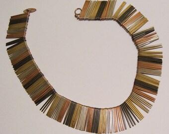 Anton Michelsen Vintage Modernist Sterling Silver Scandinavian Necklace
