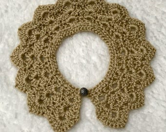 Crochet Peter Pan collar, Peter Pan collar