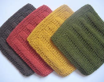 Soft Natural Dish Cloths, Warm Naturals, Fall Color