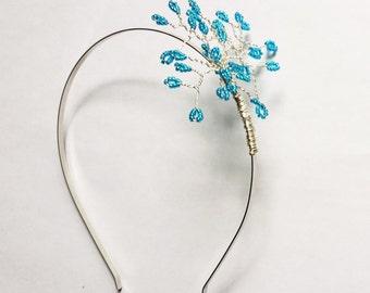 Sparkle Beaded Sprig Metal Headband