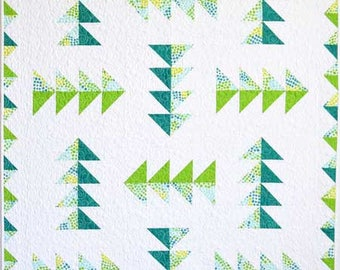 Flock of Geese quilt pattern - Plum Tree Quilts - In Crib, Lap & Queen sizes