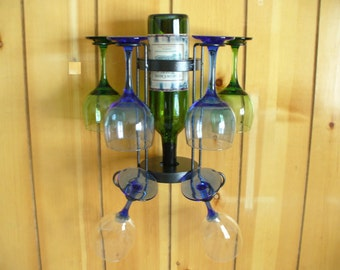 4or 6 Glass single bottle table top or wallmounted wine holder
