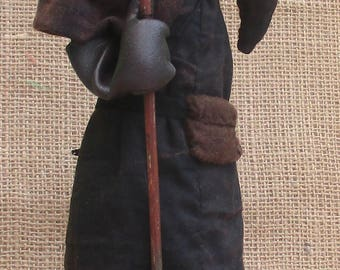 Plague Doctor  historical cloth doll sewing pattern  PDF