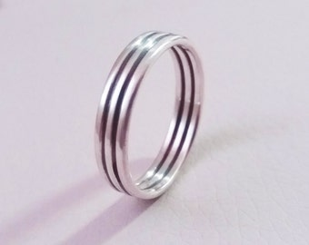Band silver ring for men, oxidized ring, sterling silver ring, men jewelry, gift for men, mens ring
