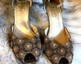 Vintage Beaded Jeweled Heels