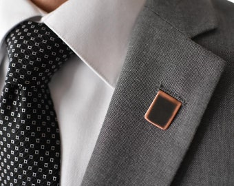 Darkened Rustic Copper Lapel Pin