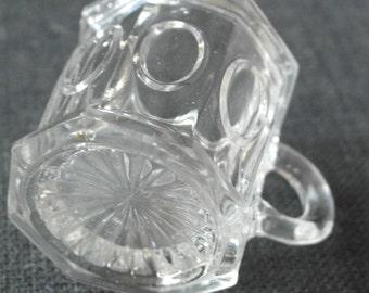 aniqu press glass small drinking tankard mug