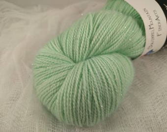 Frosted Mint - Silver Stellina Moonlit Sock