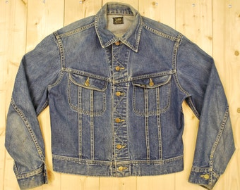 Vintage 1960's LEE 101J Denim Jean Jacket / UNION MADE in the U.S.A./ Sanforized /Retro Collectable Rare