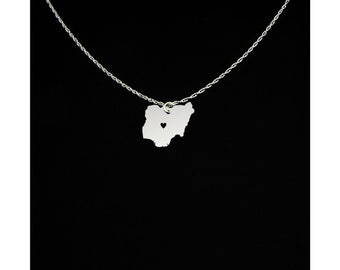 Nigeria Necklace - Nigeria Jewelry - Nigeria Gift